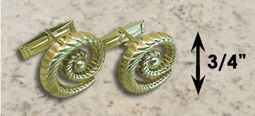#330 Hurricane Cuff Links twisted 14k Gold