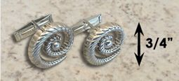 #332 Hurricane Cuff Links twisted Sterling Silver