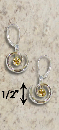 #229 Hurricane Earrings Sterling Silver 14k Gold