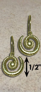 #327 Hurricane Earrings twisted 14k Gold