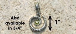 #325 Hurricane Pendant twisted Sterling Silver 14k Gold