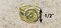 #321 Hurricane Ring twisted 14k Gold