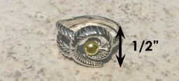 #322 Hurricane Ring twisted Sterling Silver 14k Gold