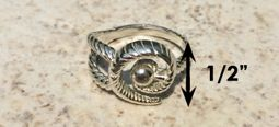 #323 Hurricane Ring twisted Sterling Silver