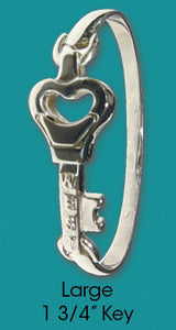 #110 Bangle with Large Key<br>Key West Love Bracelet