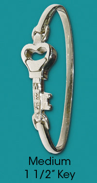 #109 Bangle with Medium Key<br>Key West Love Bracelet
