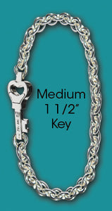 #106 Chain with Medium Key<br>Key West Love Bracelet