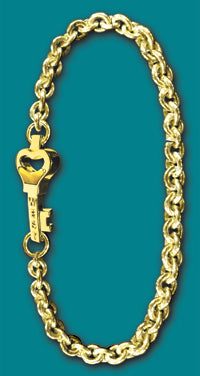 #102 Large All 14k Gold Key West Love Bracelet - Call For Pricing