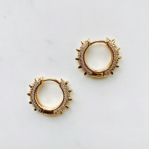 Spike Mini Hoop Earrings by Aurelia + Icarus