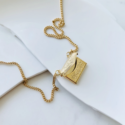 Arielle Gold Locket Necklace