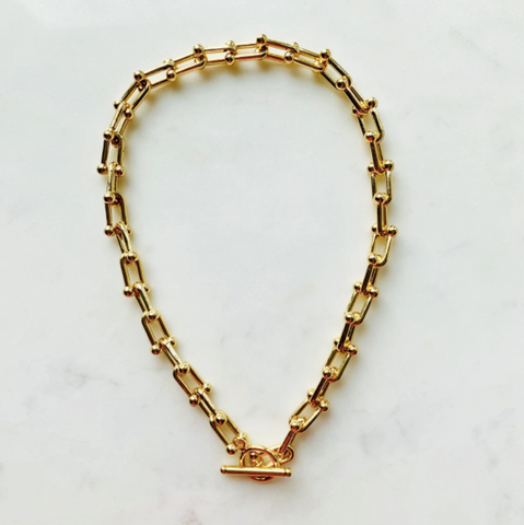 14 Karat Gold Filled Toggle Necklace