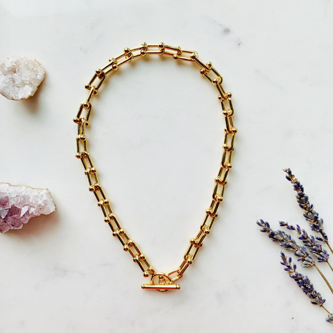 Chunky 14K Gold-Filled Toggle Necklace by Aurelia + Icarus