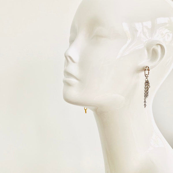 L'avant Garde Safety Pin Statement Earrings