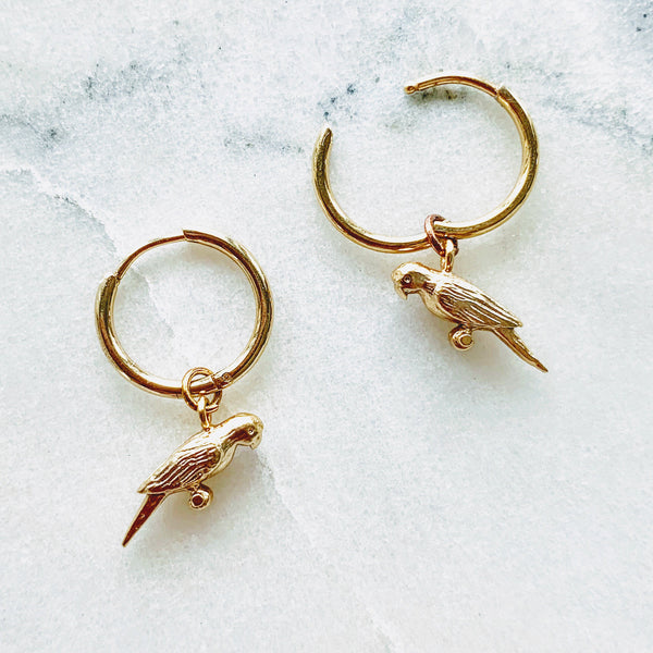 Françoise Tiny Bird Mini Hoops