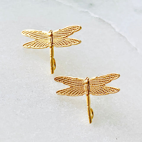 Seraphine Tiny Dragonfly Studs
