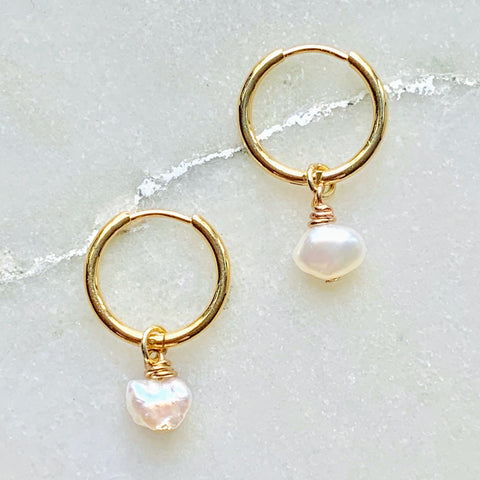 Cécile Pearl Hoops
