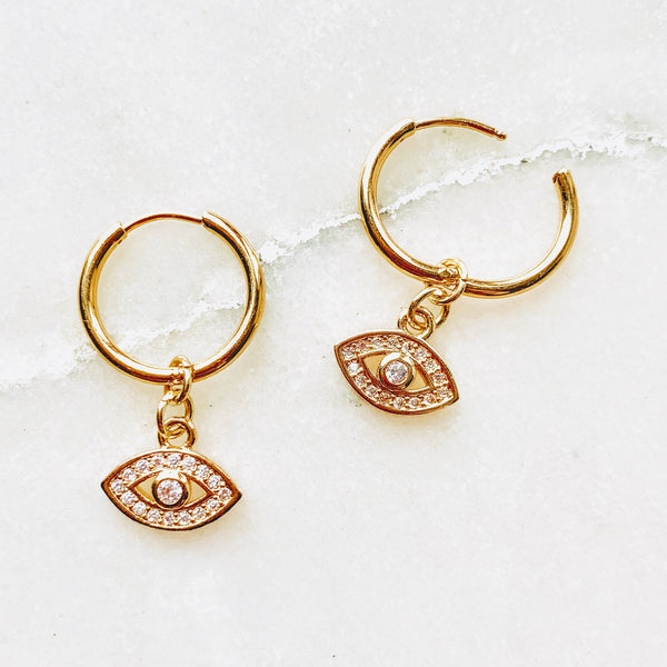 Juliette Evil Eye Mini Hoops