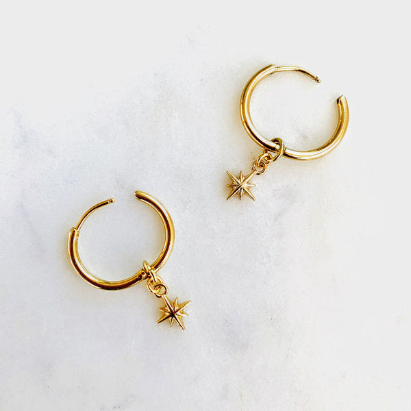 Celestial Tiny Star Hoops