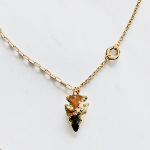 Gold Dipped Jasper Gemstone Necklace