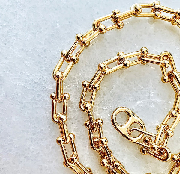 14k Gold Filled Carabiner Soda Tab Necklace