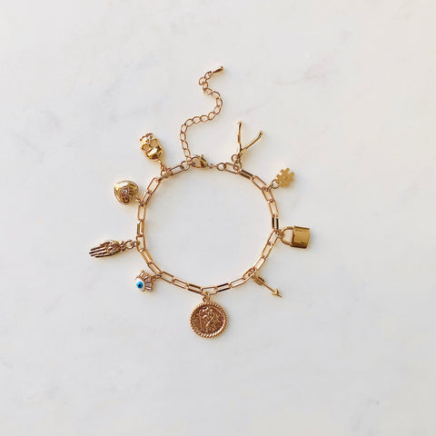 Multi Charm Good Luck Bracelet