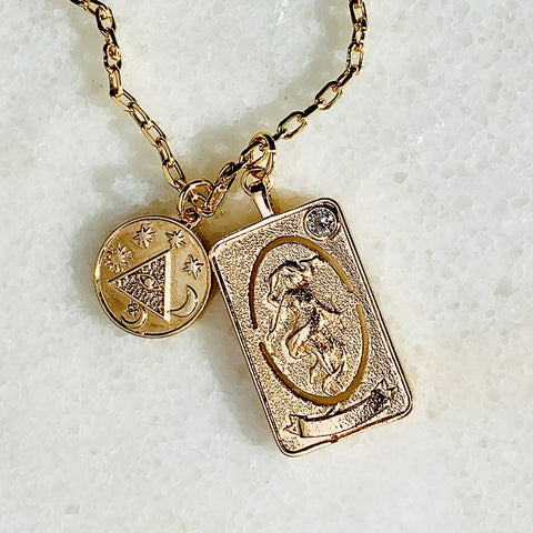 24K Gold Filled Tarot Eye of Providence Necklace