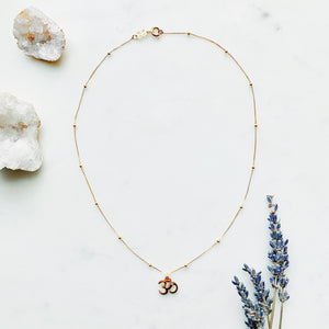 Om Gold-Filled Meditation Necklace