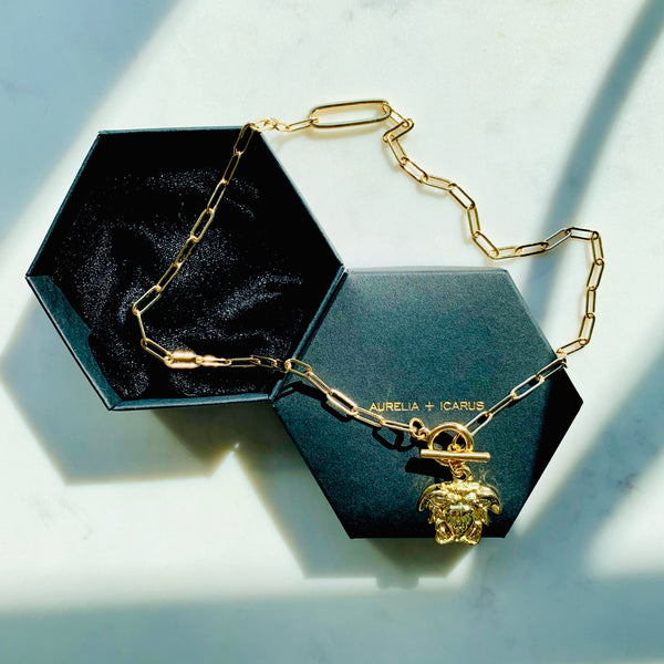 Medusa Gold Toggle Necklace
