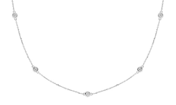 Bezel-Set by the Yard Diamond Necklace