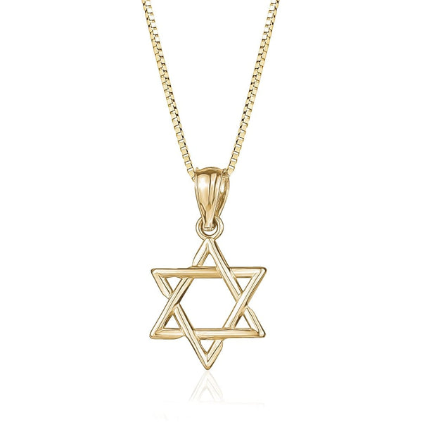 10K Gold Star of David Pendant