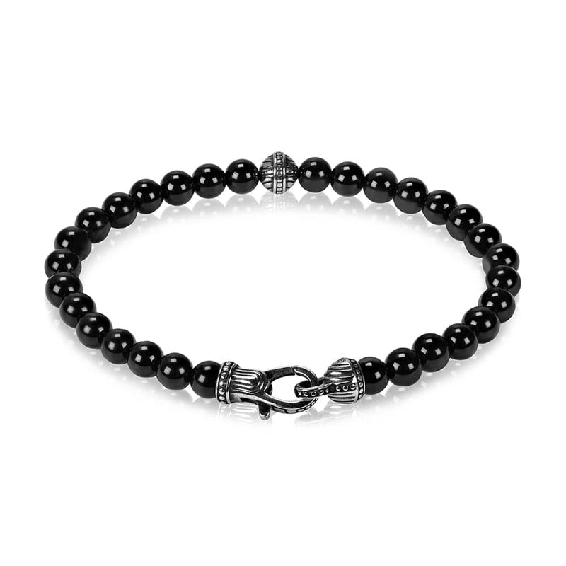 6mm Black Onyx Bead Bracelet