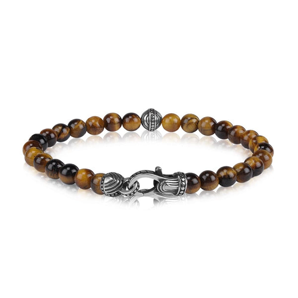 6mm Tiger Eye Bead Bracelet - 7""