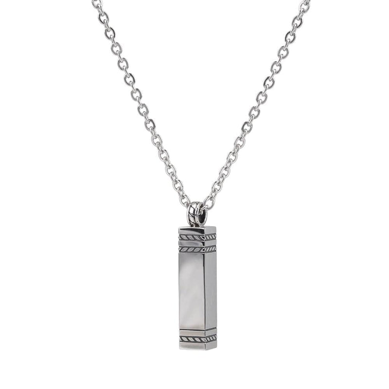 "Rectangle Ashes Pendant with 28""chain"