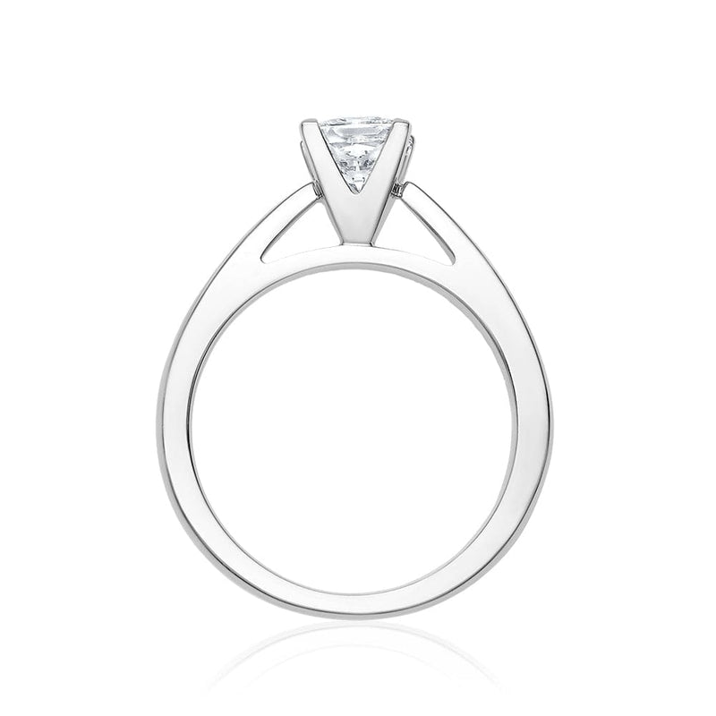 0.96ct Princess Cut Solitaire Canadian Engagement Ring