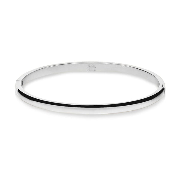 Gold Steel Dome Shape Slim Bangle