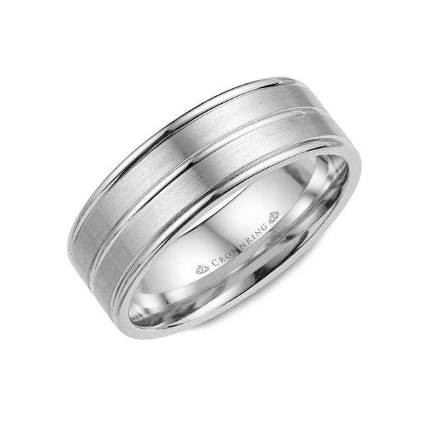 3 Row Detailed Wedding Band (7MM)