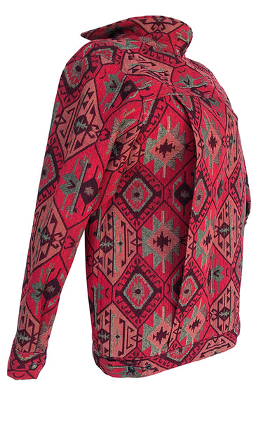 Red Georgian Gobelin Pattern Jacket