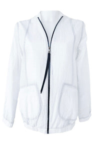 White Cotton Origami Bomber