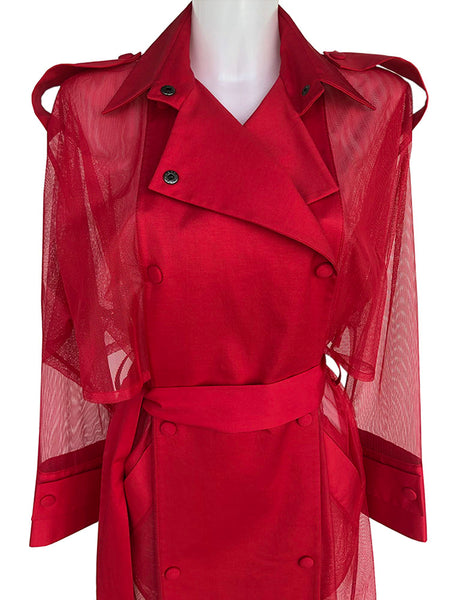 Red Perforated Coat
