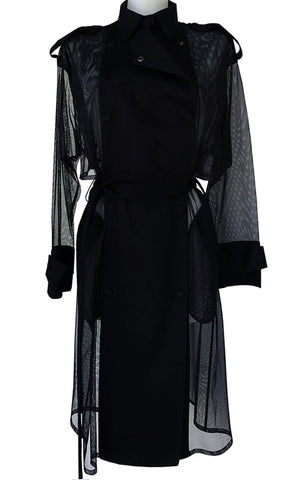 Silk Black Coat