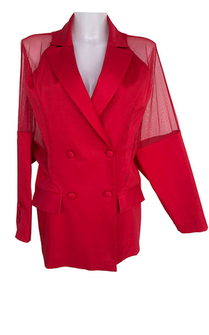 Red Perforated Jacket