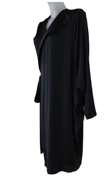 Dark Blue Silk Asymmetric Dress