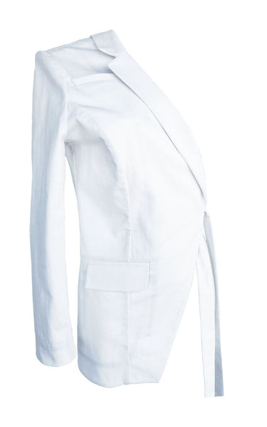 White Denim Half Jacket