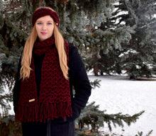 Load image into Gallery viewer, Burgundy Anneliese Scarf