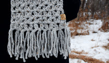 Load image into Gallery viewer, Grey Marble Anneliese Scarf