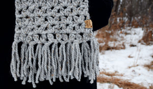 Grey Marble Anneliese Scarf