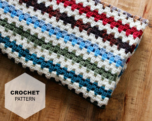 Rainbow Scrappy Blanket: Crochet PATTERN
