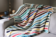 Load image into Gallery viewer, Rainbow Scrappy Blanket: Crochet PATTERN