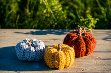 Load image into Gallery viewer, Crocheted Pumpkin Decor