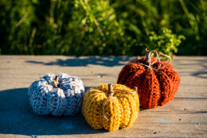 Crocheted Pumpkin Decor